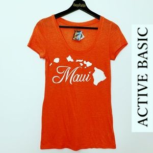 NWT ACTIVE BASIC Maui Tee in Coral
